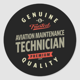 Aviation Maintenance Technician Classic Round Sticker