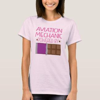 Aviation Mechanic Chocolate Gift for Woman T-Shirt