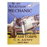Aviation Mechanic Post Card