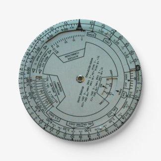 Aviation Navigation Computer Paper Plates