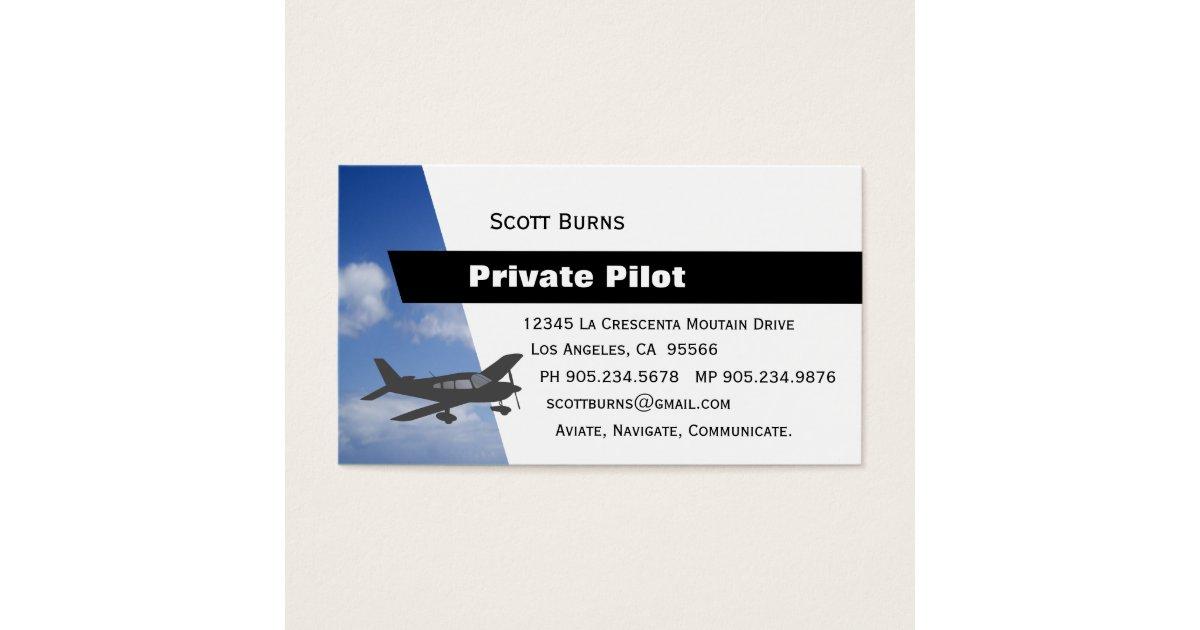 Aviation Pilot Business Card | Zazzle.com