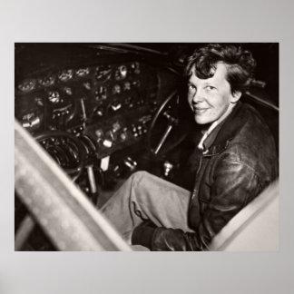 AVIATION PIONEER AMELIA EARHART -- 1937 POSTER