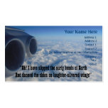 Aviation Poem for Aviators Double-Sided Standard Business Cards (Pack Of 100)
