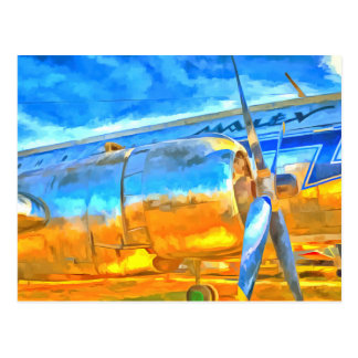 Aviation Pop Art Postcard