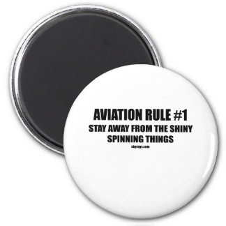 AVIATION RULE 1 2 INCH ROUND MAGNET