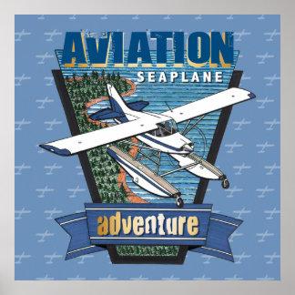 Aviation Seaplane Adventure Poster