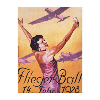 Aviation Show at Hotel Wagner Promo Poster Stretched Canvas Print