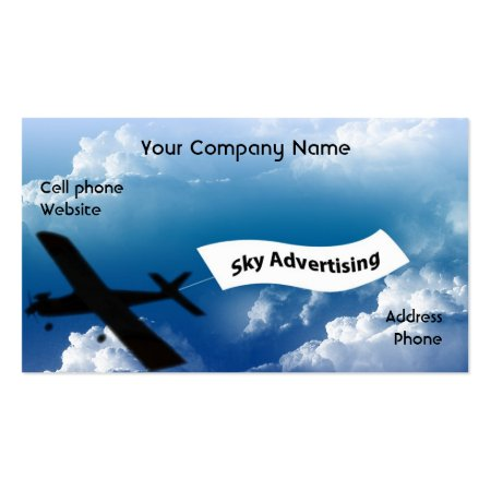 Sky Writing Sky Advertising Business Cards