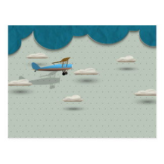 Aviation Whimsy Postcard