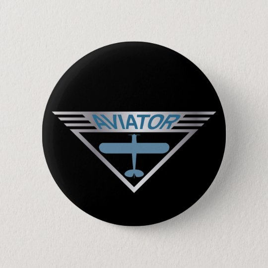 Aviator 1 pinback button