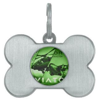 Aviator AIrcrafts Pet Name Tag