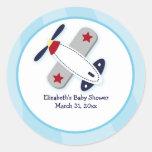 Aviator Airplane Custom Favor Stickers 3 inch