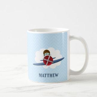 Aviator and His Plane Coffee Mug