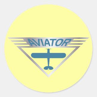 Aviator Classic Round Sticker