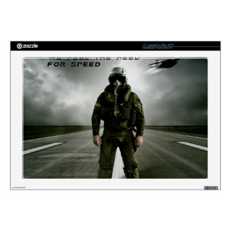 """Aviator Fighter Pilot Decal For 17"""" Laptop"""