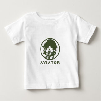 Aviator Fighter Pilot Helmet Baby T-Shirt