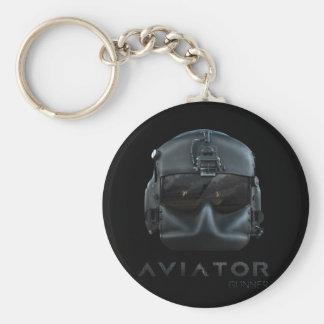 Aviator Gunner Basic Round Button Keychain