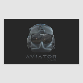 Aviator Gunner Rectangular Sticker