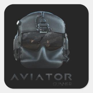 Aviator Gunner Square Sticker