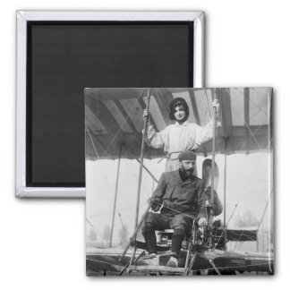 Aviator Henri Farman and Wife, early 1900s Refrigerator Magnet