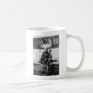 Aviator Henri Farman and Wife, early 1900s Classic White Coffee Mug