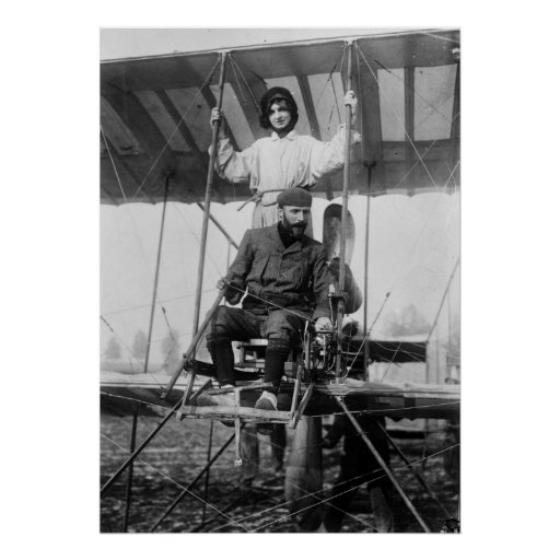 Aviator Henri Farman and Wife, early 1900s Posters