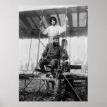 Aviator Henri Farman and Wife, early 1900s Posters