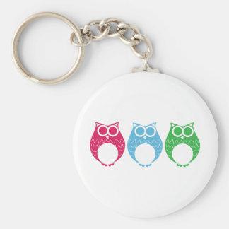 Aviator Owl 02 Basic Round Button Keychain