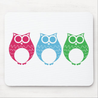 Aviator Owl 02 Mouse Pad