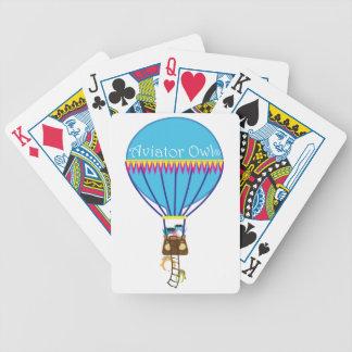 Aviator Owl® Hot Air Balloon Ride Poker Cards