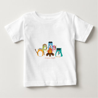 Aviator Owl Marshmallow Fire Baby T-Shirt