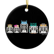 Aviator Owl XRay Ceramic Ornament