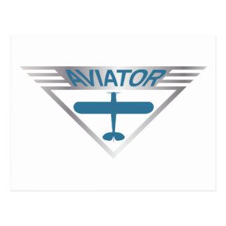 Aviator Postcard
