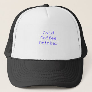 Avid Coffee Drinker Black Blue Red Trucker Hat