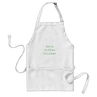 Avid Coffee Drinker Yellow Green Pink Adult Apron