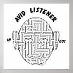 Avid Listener Poster