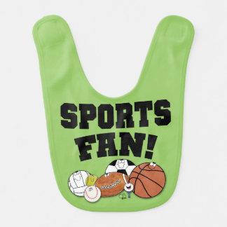 Avid Sports Fan Sports Ball Characters Bib