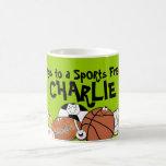 Avid Sports Fan- Sports Ball Characters Classic White Coffee Mug
