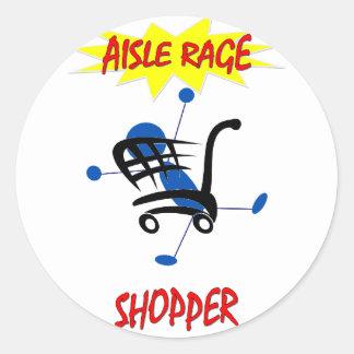 AVID SUPERMARKET SHOPPER CLASSIC ROUND STICKER