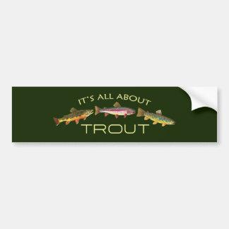 Avid Trout Fishermans Bumper Sticker