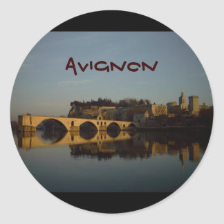 Avignon Classic Round Sticker