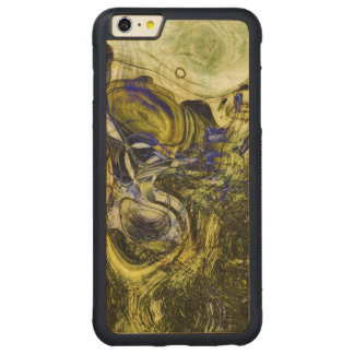 Avignon Olive Green Abstract Art Carved Maple iPhone 6 Plus Bumper Case