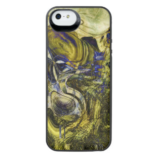 Avignon Olive Green Abstract Art iPhone SE/5/5s Battery Case