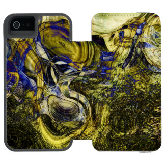 Avignon Olive Green Abstract Art iPhone SE/5/5s Wallet Case