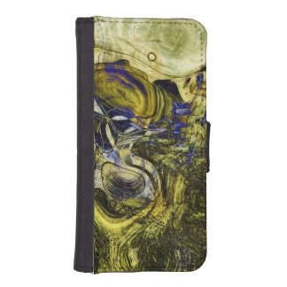 Avignon Olive Green Abstract Art Wallet Phone Case For iPhone SE/5/5s