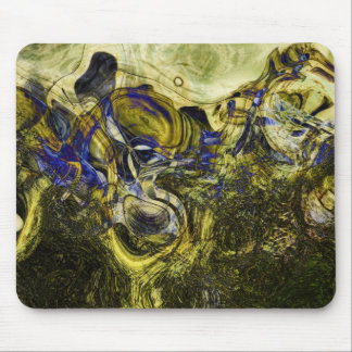 Avignon Olive Green Abstract Mouse Pad