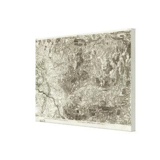 Avignon, Orange Canvas Print
