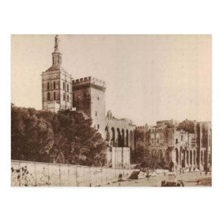 Avignon Palais des Papes 1920 Replica Vintage Postcard