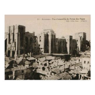 Avignon Pope's Palace replica postcard 1920