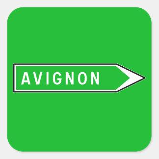 Avignon, Road Sign, France Square Sticker